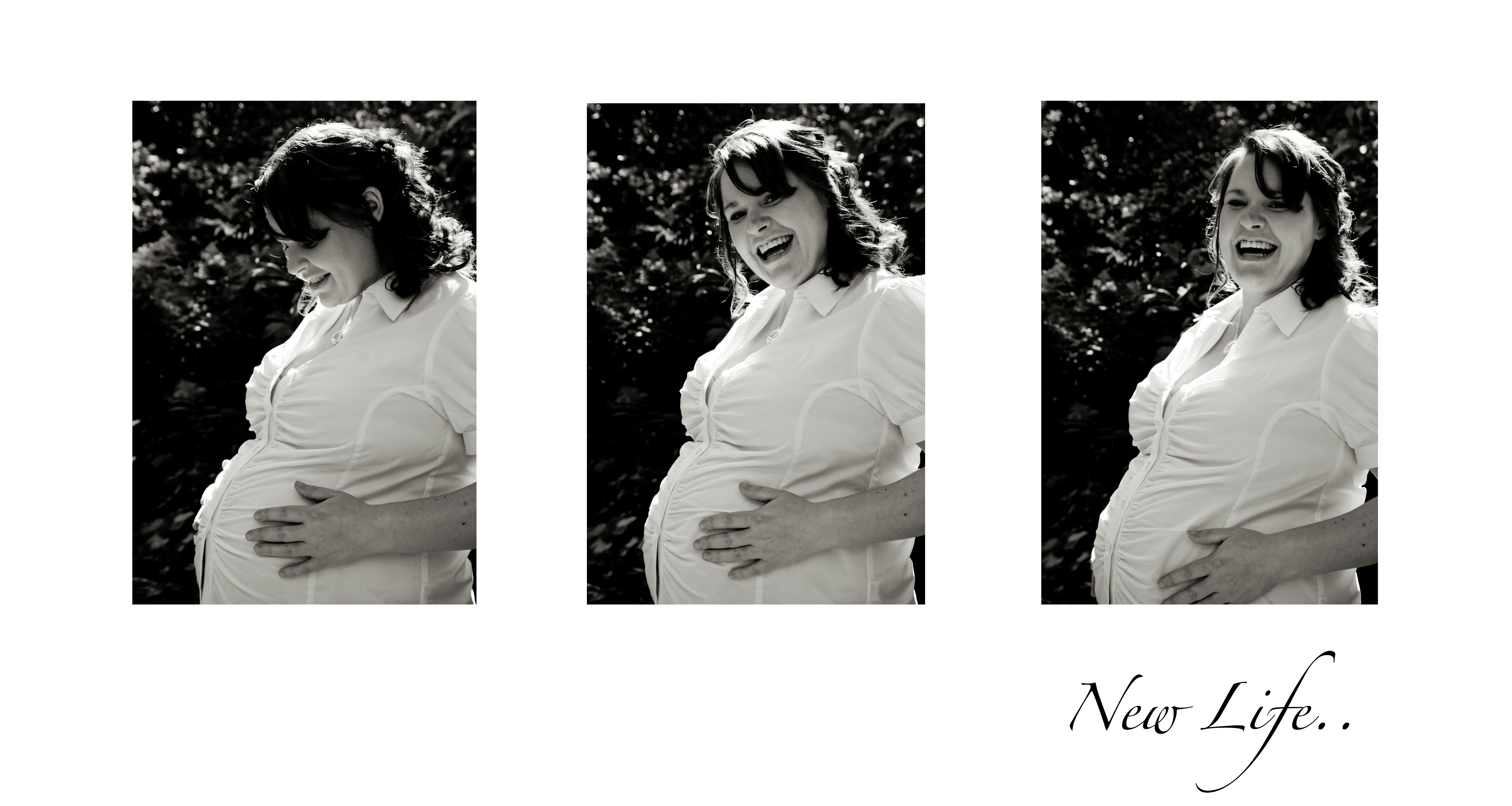 an afternoon maternity shoot in the sun