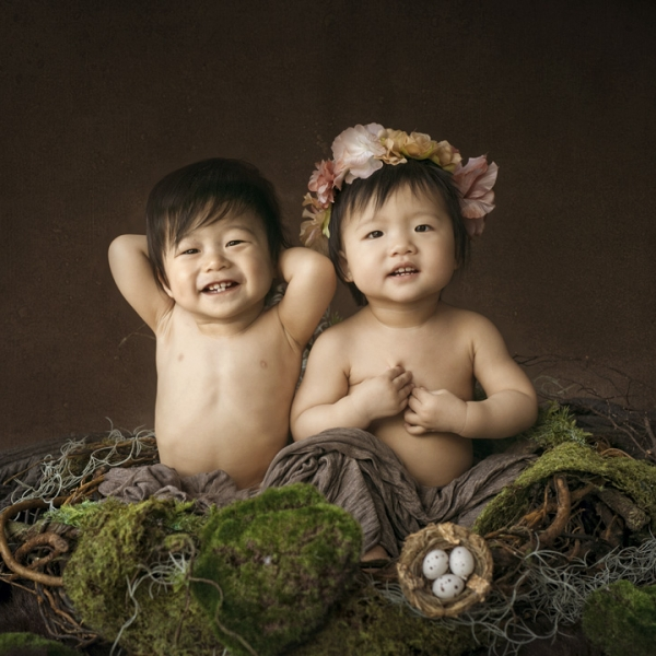 big 2 year olds. - sutherland shire twin photographer