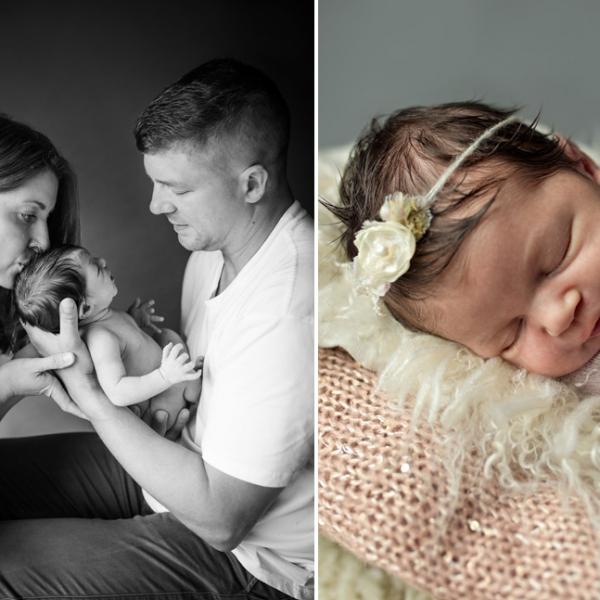 dark  haired beauty - sutherland shire newborn photographer
