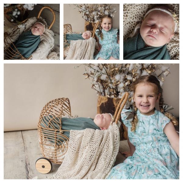 beautiful sisters - sutherland shire newborn photographers