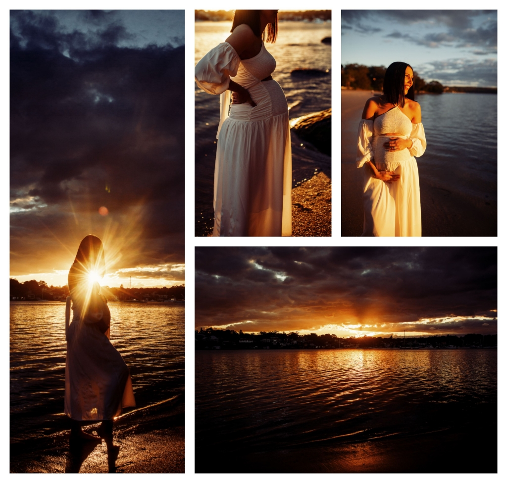 BeFunky collage 553 1024x976 stunning bump and sunset   sutherland shire maternity photographer